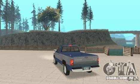 Dodge Ram 2500 1994 para GTA San Andreas esquerda vista