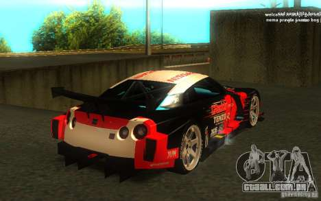Nissan Skyline R35 GTR para GTA San Andreas interior