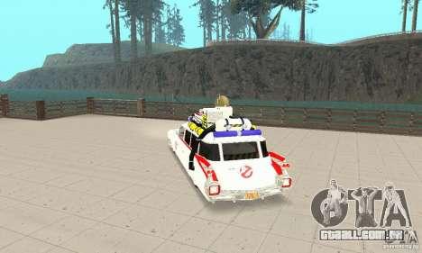 Ghostbusters ECTO 1 para GTA San Andreas esquerda vista