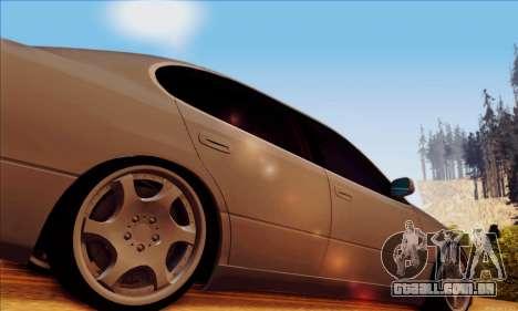 Toyota Aristo para GTA San Andreas traseira esquerda vista