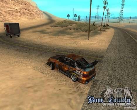 Subaru Impreza WRX Team Orange DRIFT SA-MP para GTA San Andreas vista traseira