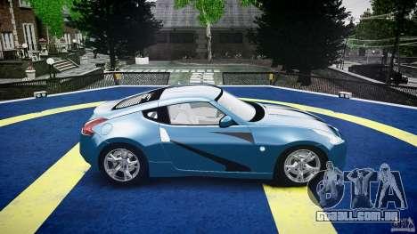 Nissan 370Z Coupe 2010 para GTA 4 vista inferior