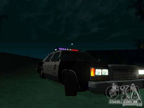 Ford Crown Victoria LTD 1992 SFPD para GTA San Andreas vista traseira
