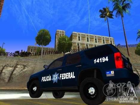 Chevrolet Tahoe 2008 Police Federal para GTA San Andreas esquerda vista