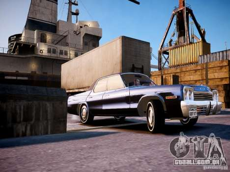 Dodge Monaco 1974 para GTA 4 vista lateral