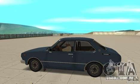 Toyota Corolla 1977 para GTA San Andreas esquerda vista