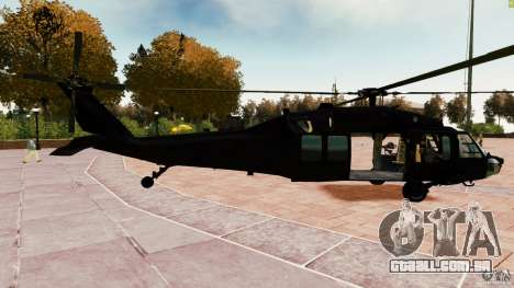 MH-60K Black Hawk para GTA 4 esquerda vista