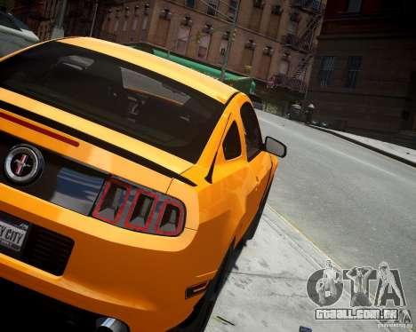 Ford Mustang Boss para GTA 4 traseira esquerda vista