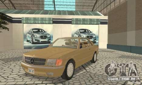 Mercedes-Benz W126 560SEC para GTA San Andreas esquerda vista