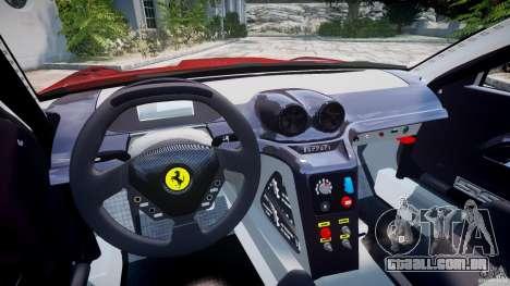 Ferrari 599 XX para GTA 4 vista de volta