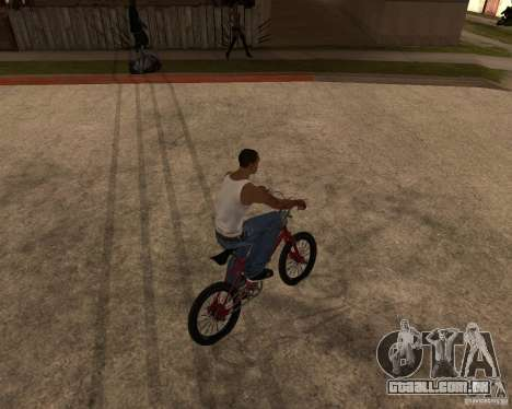 X-game BMX para GTA San Andreas traseira esquerda vista