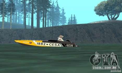 Cesa Offshore para GTA San Andreas traseira esquerda vista