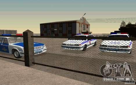Polícia PSB Vaz 2114 para GTA San Andreas vista direita
