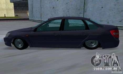 Lada Granta Low para GTA San Andreas traseira esquerda vista