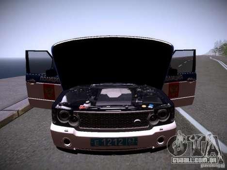 Range Rover Supercharged 2008 polícia departamen para o motor de GTA San Andreas