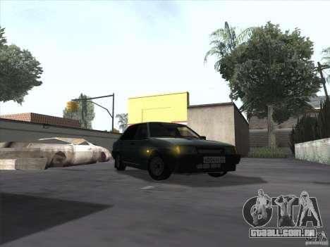 Dreno Vaz 21099 para GTA San Andreas traseira esquerda vista