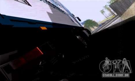 Volvo F10 para GTA San Andreas vista traseira