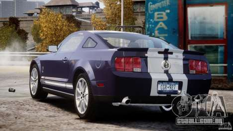 Shelby GT500KR 2008 para GTA 4 vista lateral