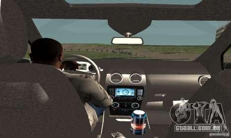 Mercedes-Benz ML500 para GTA San Andreas vista traseira