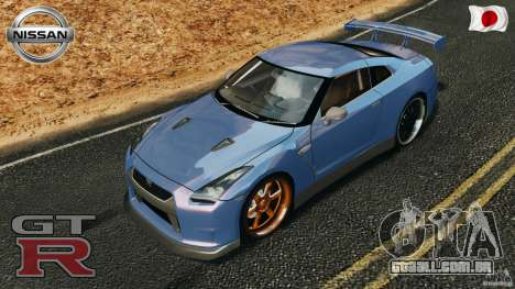 Nissan GT-R 35 rEACT v1.0 para GTA 4 vista inferior
