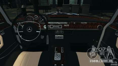 Mercedes-Benz 300Sel 1971 v1.0 para GTA 4 vista de volta