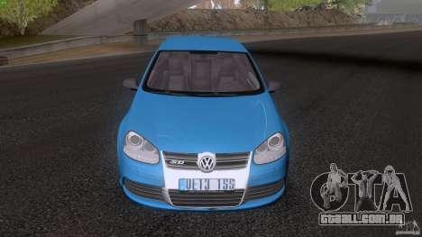 VW Golf 5 R32 2006 StanceWorks para GTA San Andreas traseira esquerda vista