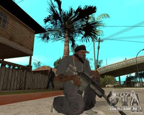 M4A1 com vista kolliminotarnym. para GTA San Andreas segunda tela