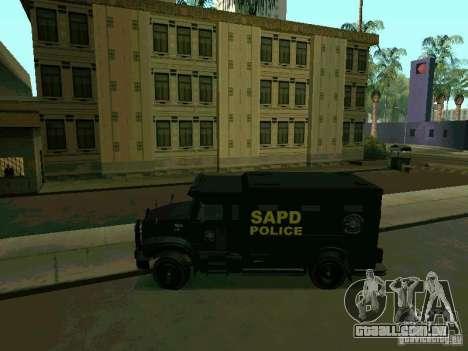 Stokade SAPD SWAT Van para GTA San Andreas esquerda vista