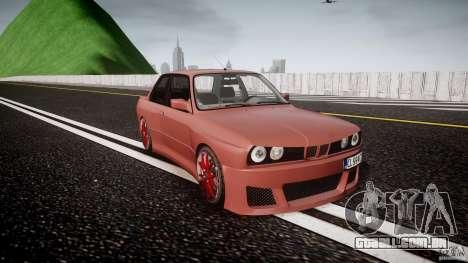 BMW E30 v8 para GTA 4 vista de volta