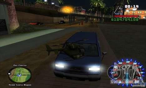 RC mod para GTA San Andreas por diante tela