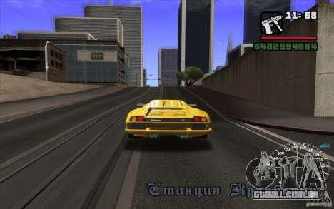 Lamborghini Diablo SV para GTA San Andreas vista traseira