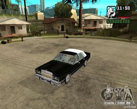 Lincoln Town Car 1986 para GTA San Andreas esquerda vista