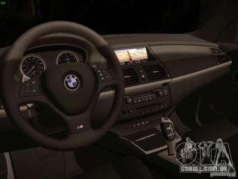 BMW X5M 2011 para GTA San Andreas vista traseira