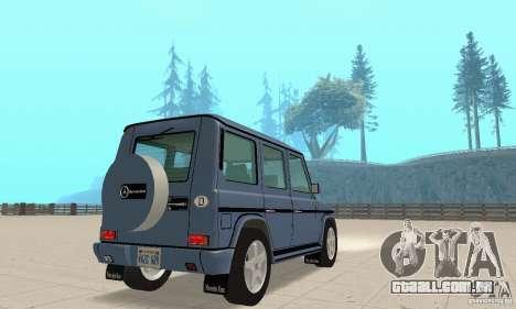 Mercedes-Benz G500 1999 v 1.1 não kengurâtnika para GTA San Andreas esquerda vista