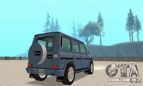 Mercedes-Benz G500 1999 v 1.1 não kengurâtnika para GTA San Andreas