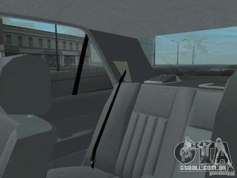 Mercedes-Benz 250D para GTA San Andreas vista inferior