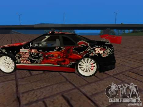 Nissan Skyline GT-R R34 Tunable para GTA San Andreas vista traseira