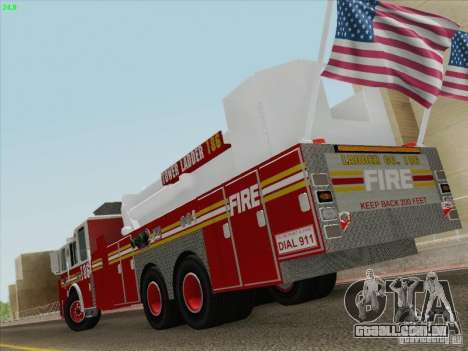 Seagrave Marauder. F.D.N.Y. Tower Ladder 186 para GTA San Andreas vista superior