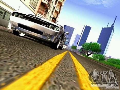 Dodge Challenger SRT8 2009 para GTA San Andreas vista superior