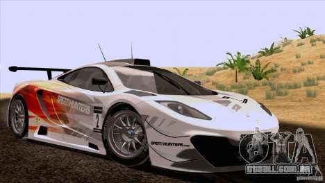 McLaren MP4-12C Speedhunters Edition para GTA San Andreas vista traseira