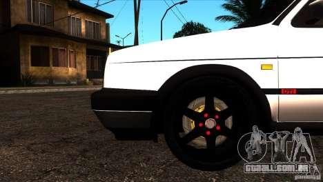 VW Golf 2 para GTA San Andreas vista inferior