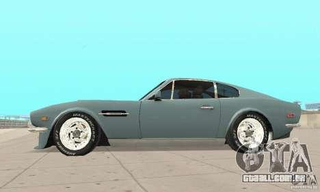 Aston Martin V8 para GTA San Andreas vista direita