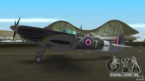 Spitfire Mk IX para GTA Vice City vista direita