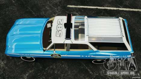Oldsmobile Vista Cruiser 1972 Police v1.0 [ELS] para GTA 4 vista direita