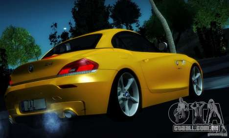 BMW Z4 Stock 2010 para GTA San Andreas vista superior
