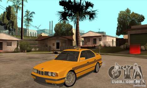 BMW E34 535i Taxi para GTA San Andreas