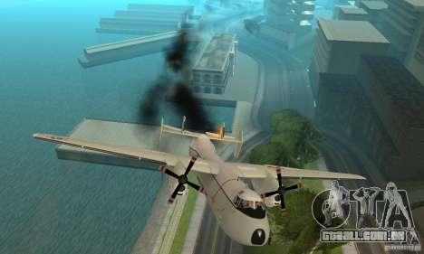 C-2 Greyhound para GTA San Andreas vista superior