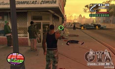 Nova vista para GTA San Andreas quinto tela