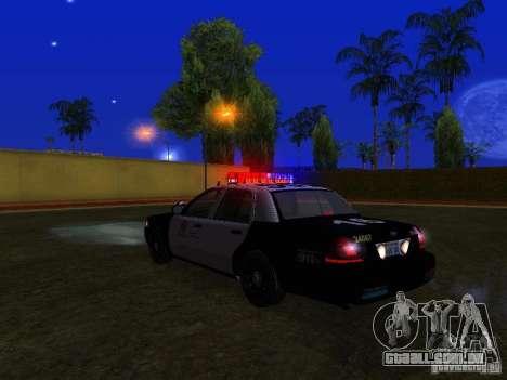 Ford Crown Victoria San Andreas State Patrol para GTA San Andreas vista superior