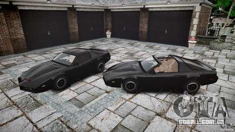KITT Knight Rider para GTA 4 vista inferior